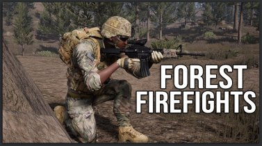 Forest Firefights - Squad 40 vs 40 Gameplay